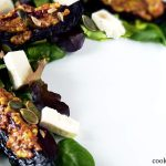 roast beetroot salad with feta and mustard dressing