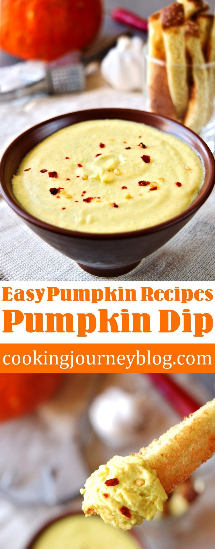 Pumpkin dip recipe – Easy pumpkin recipes pin