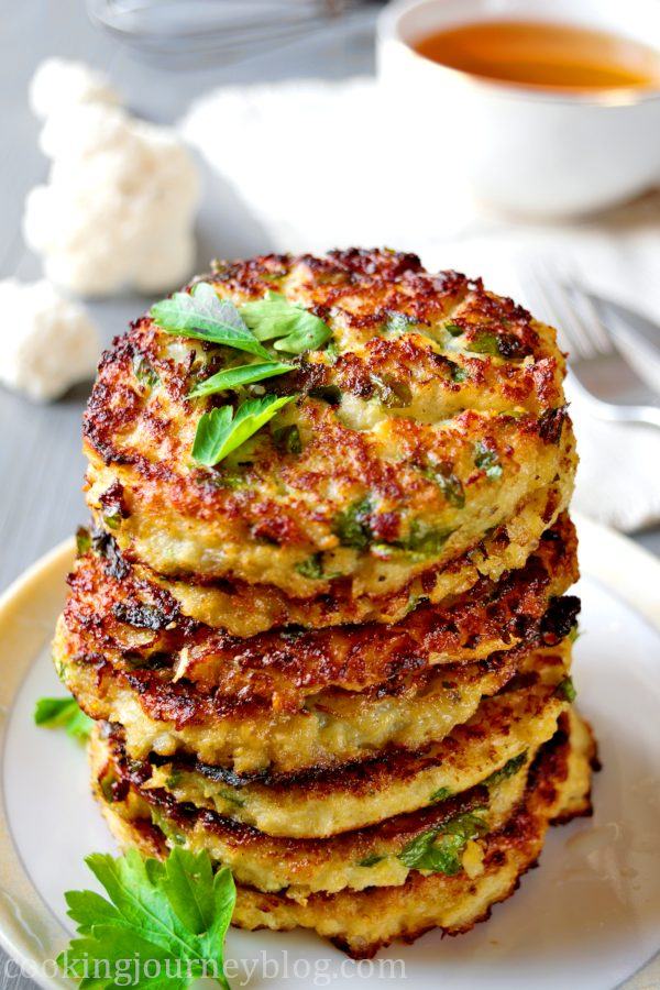 Cauliflower Fritters Easy Healthy Breakfast Cooking Journey Blog