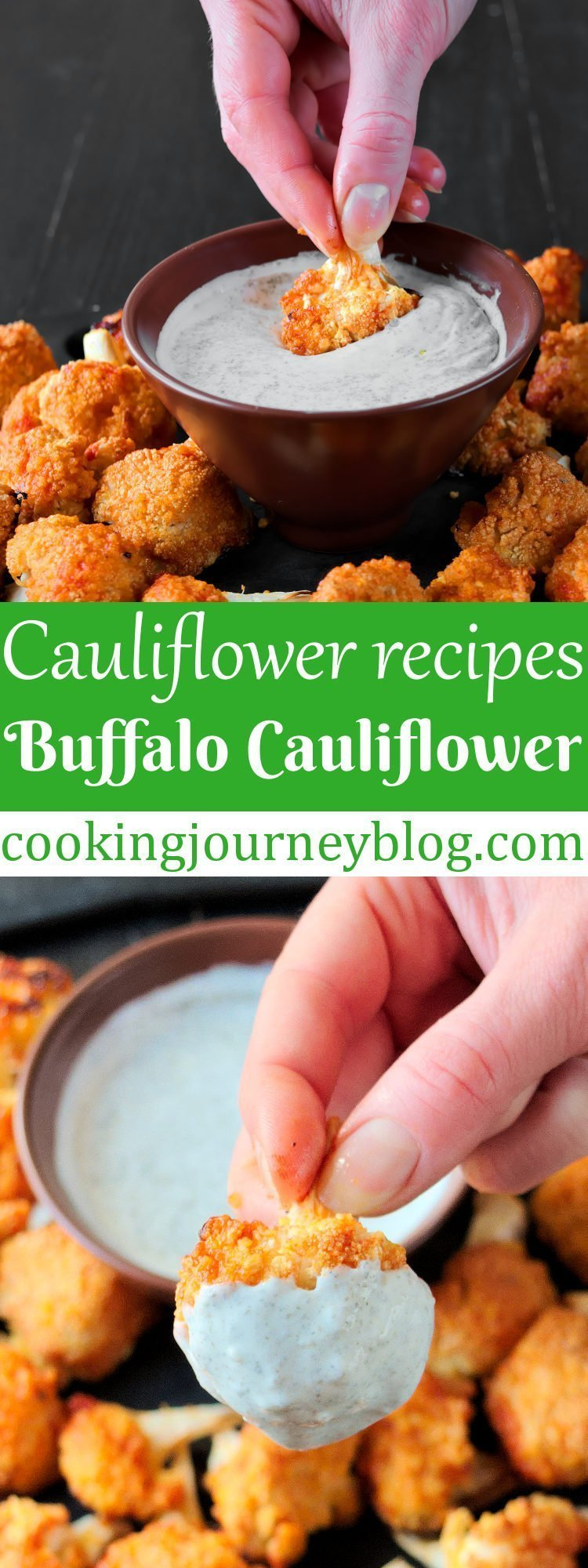 Buffalo cauliflower is one of easy vegetarian recipes to try! These cauliflower bites are hot and addictive. Easy healthy snacks to serve for your family and friends!