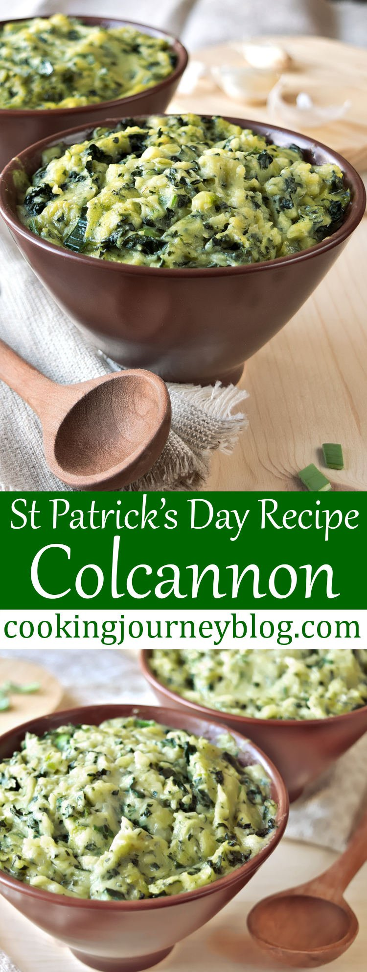 Colcannon is one of easy Irish recipes I wanted to try for a long time. It turned out best mashed potatoes I ever had! Simple mashed potatoes with sauteed kale and garlic, great and filling side dish. Moreover, colcannon is ultimate St Patrick's day food!