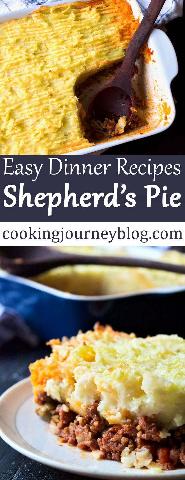 Shepherd's pie is a classic British dish that any one should try at least once in a lifetime! This Shepherd's pie has layers of beef and lamb, vegetables, covered with potato mash. Wonder what to cook for dinner? Try this simple and filling meat pie. Turn meat and potatoes into one of your dinners!