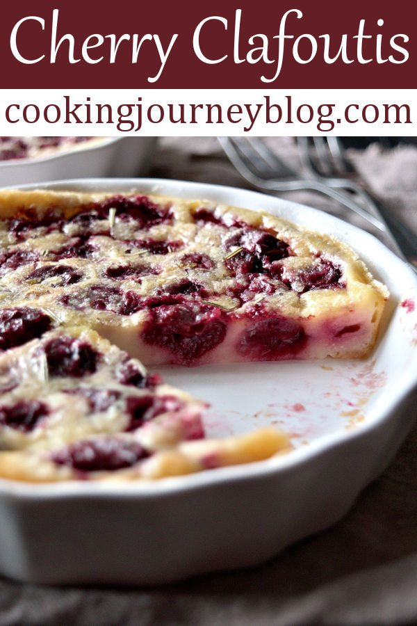 Clafoutis Cerise is a baked cherry custard, French dessert. Cherry clafoutis is an easy dessert, served in individual ramekins. To my mind, it is one of the best sweet breakfast recipes! Moreover, this clafoutis is great for Mother's day brunch! #cherries #clafoutis #dessert #mothersday