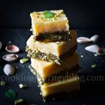 Lemon squares and pistachios