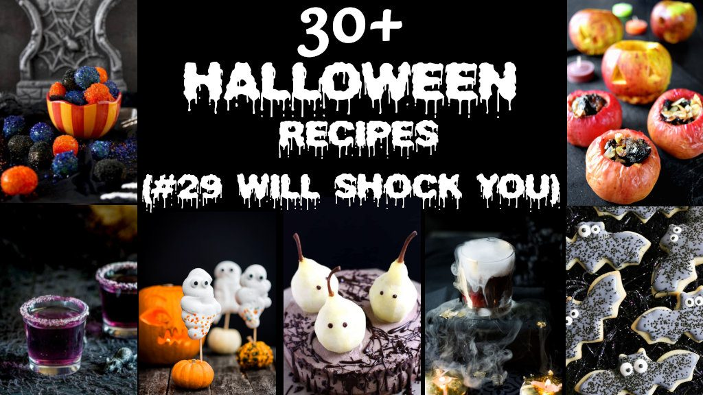 Best Halloween Recipes from Appetizers to Desserts - ghosts, bats, colorful and spooky food