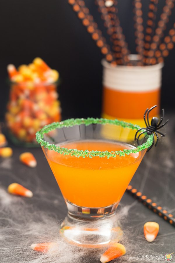 Candy Corn Martini with Spider
