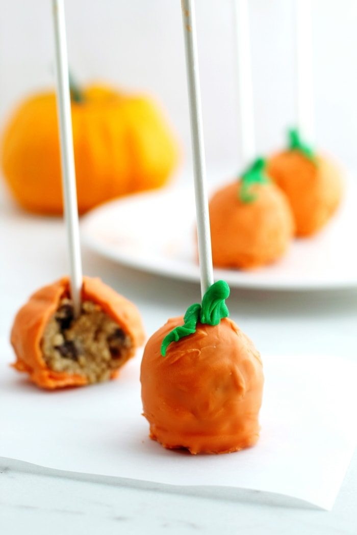 Cookie Dough Pumpkin Pops