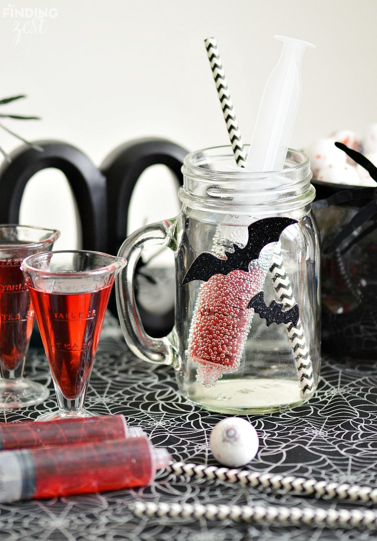 Easy Bloodshot Halloween Drink for Kids