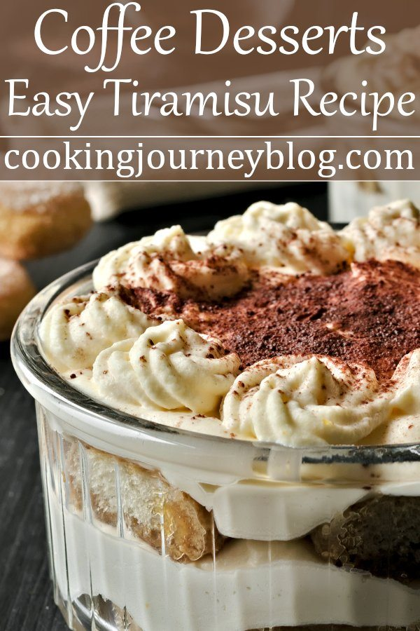 Easy tiramisu recipe is your saver during holiday season. It is one of the best Italian coffee desserts. This tiramisu has no raw eggs. Easy and romantic dessert for two, served in individual ramekins. lndividual tiramisu. #tiramisu #easydesserts #nobakedessert
