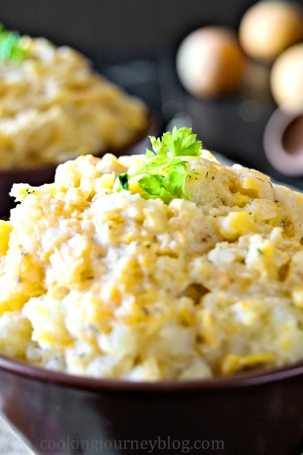 Mashed Turnips and Potatoes with parsley.