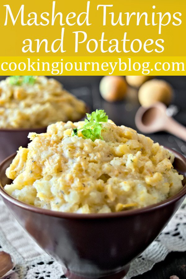 Mashed Turnips and Potatoes - Vegetarian Side Dishes. Include moore root vegetables in your meal. Mashed turnips and potatoes is a great vegetarian side dish for Thanksgiving or every day. Add more flavor to your potato mash with healthy turnips. #mashedpotatoes #thanksgivingrecipes #sidedish #vegetarianrecipes