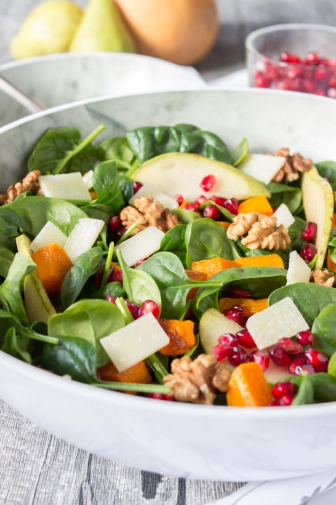 Roast Pumpkin Pear Salad