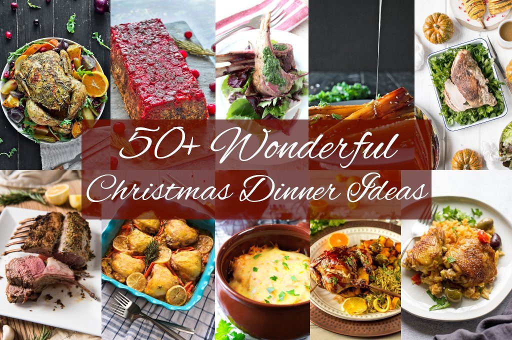 50+ Wonderful Christmas Dinner Ideas. Here we combined vegan and vegetarian dishes, fish and seafood, beef, poultry, pork and ham, as well as other recipes.