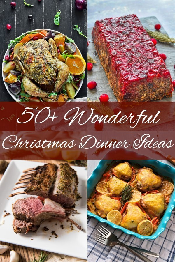 50+ Wonderful Christmas dinner ideas main dishes. Vegan and non-vegan, also gluten free included. Amazing family festive meals! #dinnerrecipes #easydinnerrecipes #christmasrecipesmain