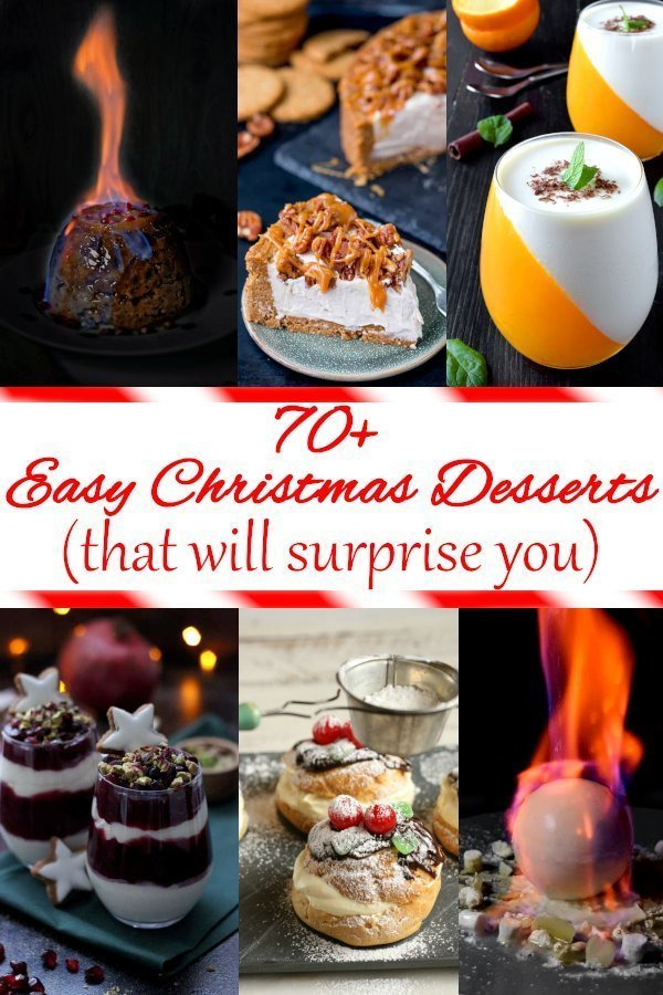 Easy Christmas Desserts (that will surprise you). Most delicious dessert recipes, cakes, cookies. #christmasdesserts #xmastime