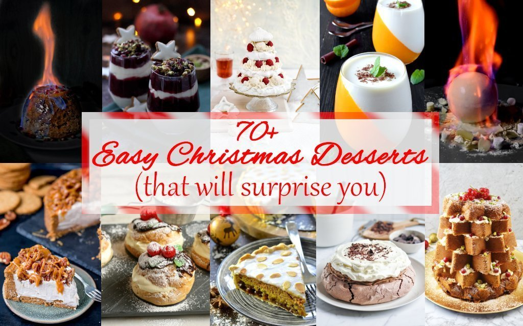 Easy Christmas Desserts (that will surprise you). Most delicious dessert recipes, cakes, cookies.