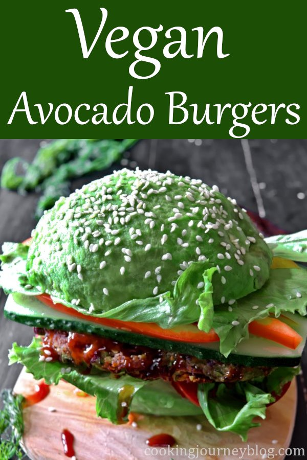 Vegan Avocado Burger is ultimate healthy snack. Filling and tasty BBQ burger that you can have for every day lunch. #veganfood #veganrecipes #healthysnacks #healthydiet #avocado #veganburgers #vegetables
