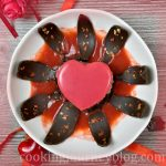 Mirror Glaze Cake – Valentine's Desserts view from top