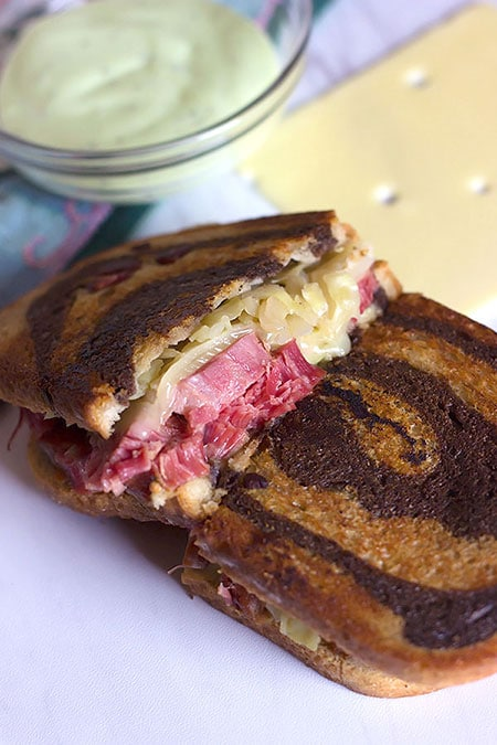 Easy Grilled Corned Beef Reuben Sandwich