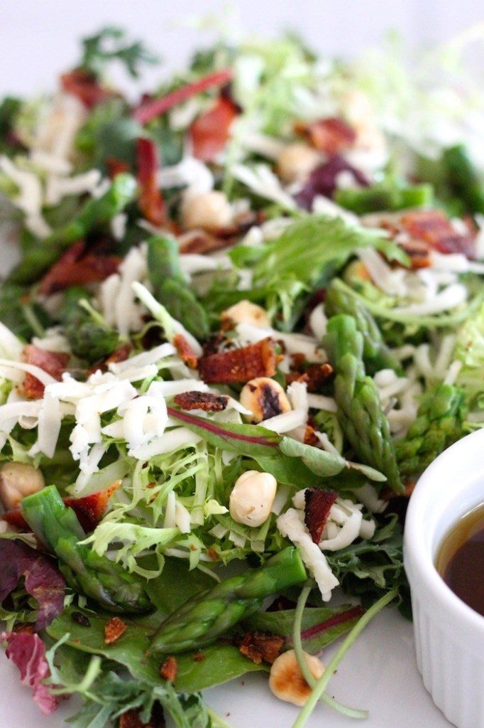 Spring Salad with Asparagus and Honey Chipotle Vinaigrette
