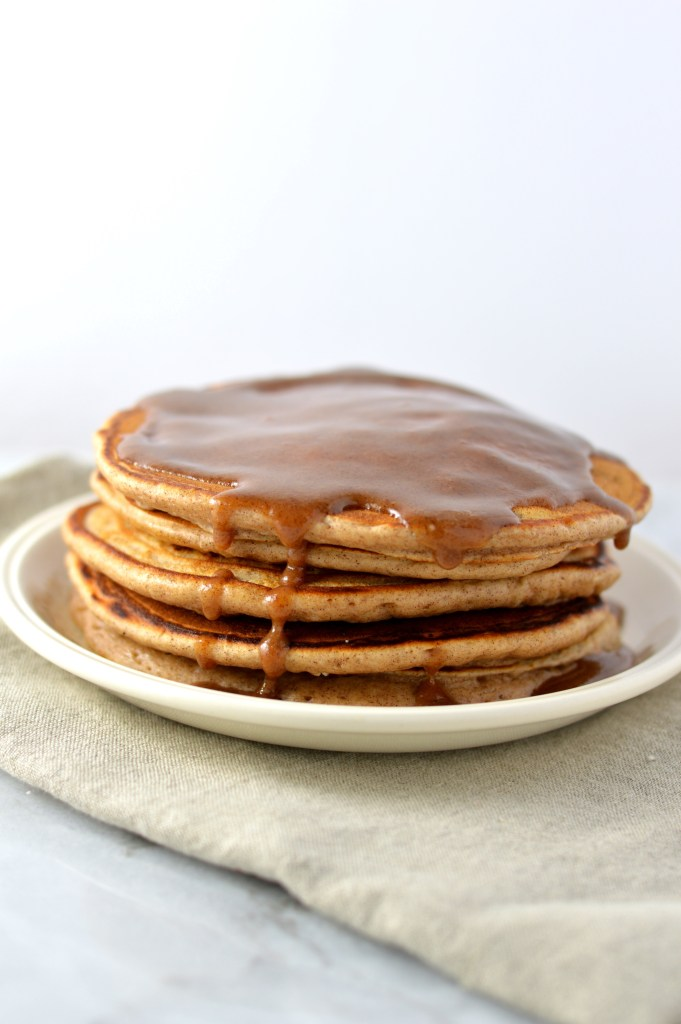 Snickerdoodle Pancakes with Cinnamon Glaze