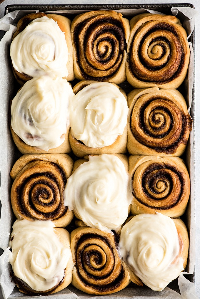 Best Homemade Cinnamon Rolls with cream cheese