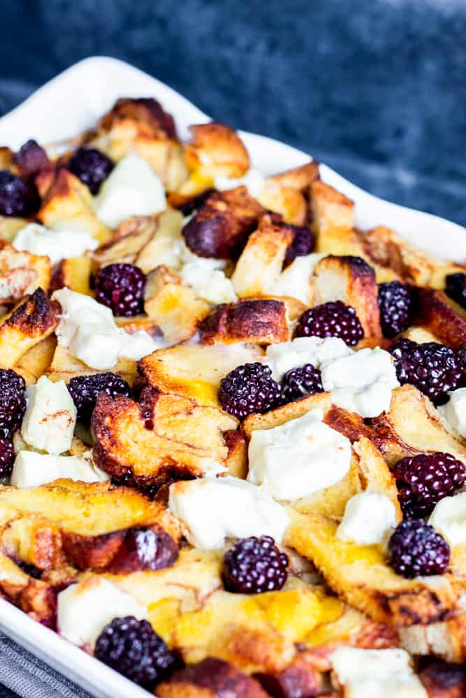 Cinnamon French toast with blackberries