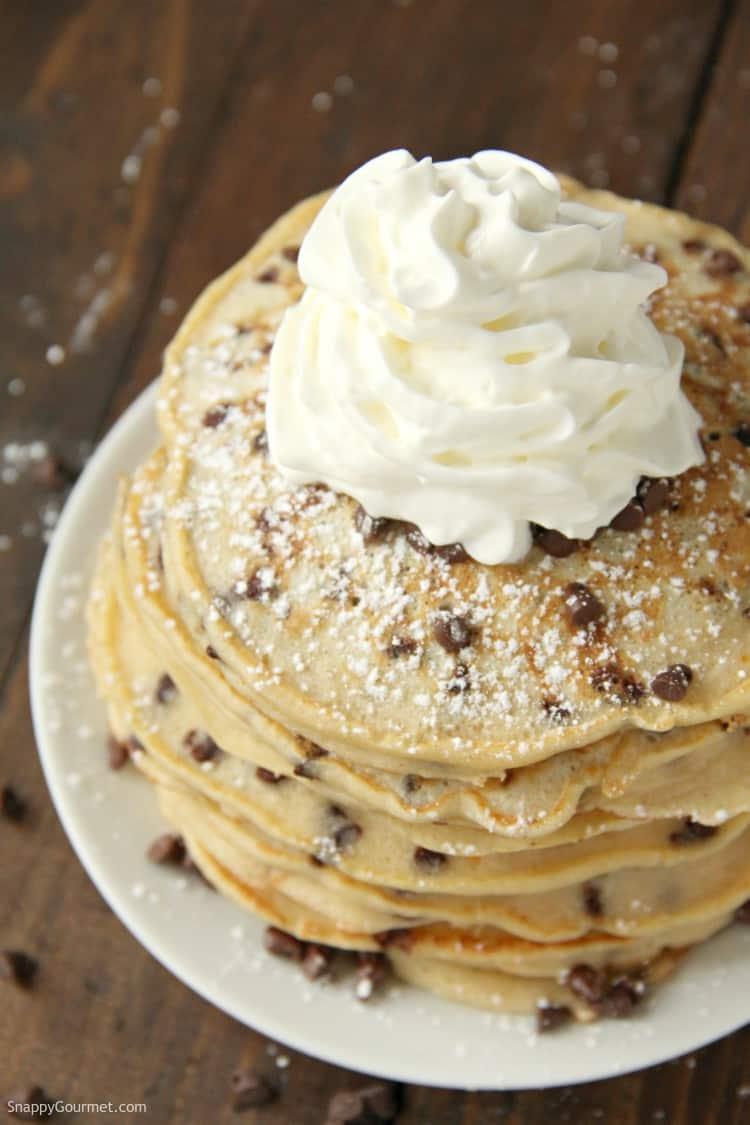 Cannoli Pancakes with cream and chocolate