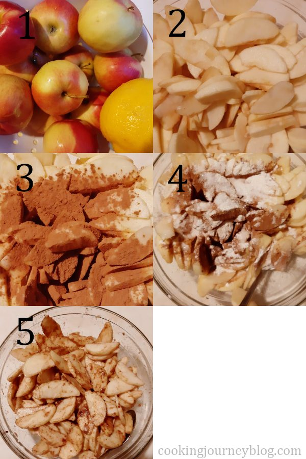 How to prepare filling for Dutch apple pie
