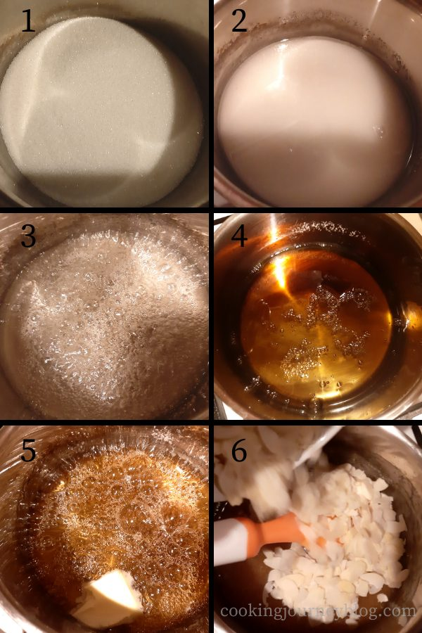 How to make almond praline - step by step instructions