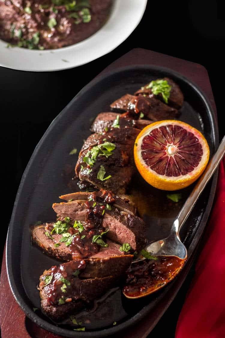 Sous Vide Duck Breasts with Quick Orange Chocolate Sauce