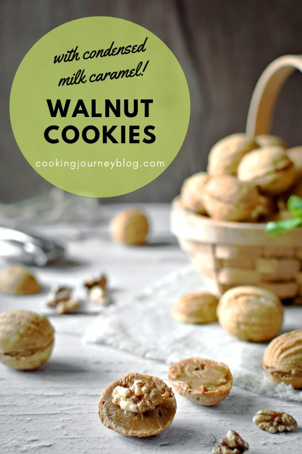 Walnut Shaped Cookies is an easy cookie recipe with condensed milk. Fun idea for Easter, Christmas and other holidays, great for a crowd.