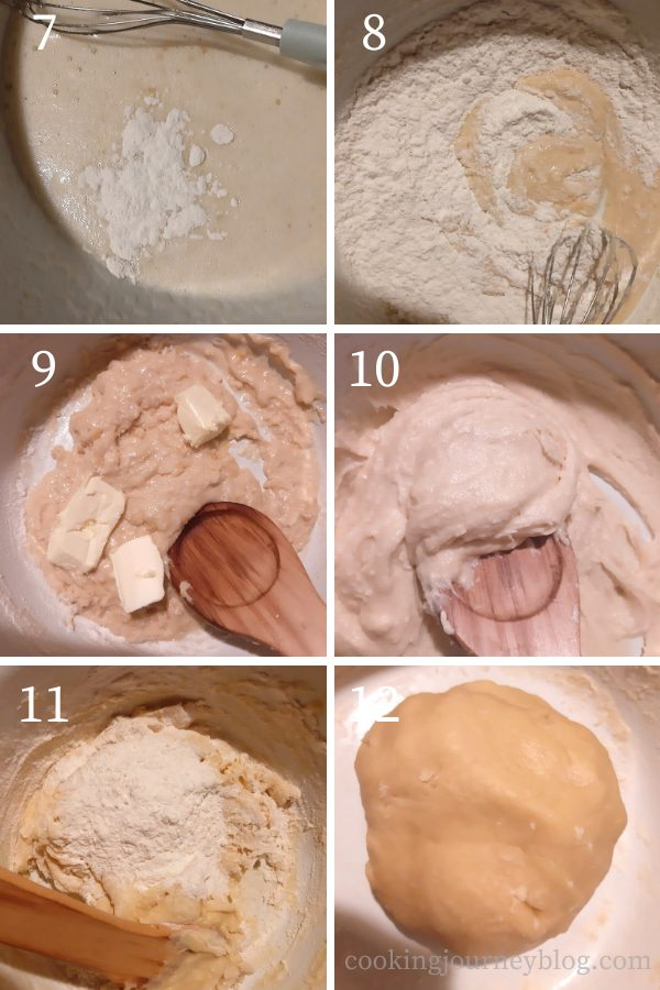 How to make the cookie dough step by step 7-12 process