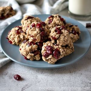 Healthy Oatmeal Cookie recipe with dried cranberries