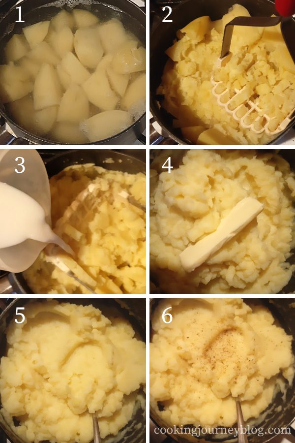 How to make mashed potatoes step by step instuctions