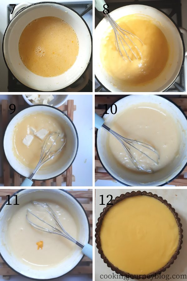 How to cook lemon curd 7-12 step by step instructions