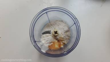 Ingredients for the crumb in a food processor