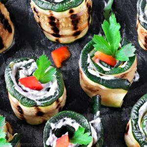 Grilled Zucchini Roll Ups – Easy Vegetarian Recipes