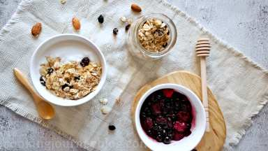 Serve for breakfast with yogurt and berries.