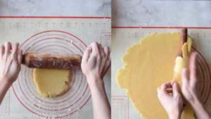 Roll the top pie crust. Carefully roll on the rolling pin to place on top of the pie.