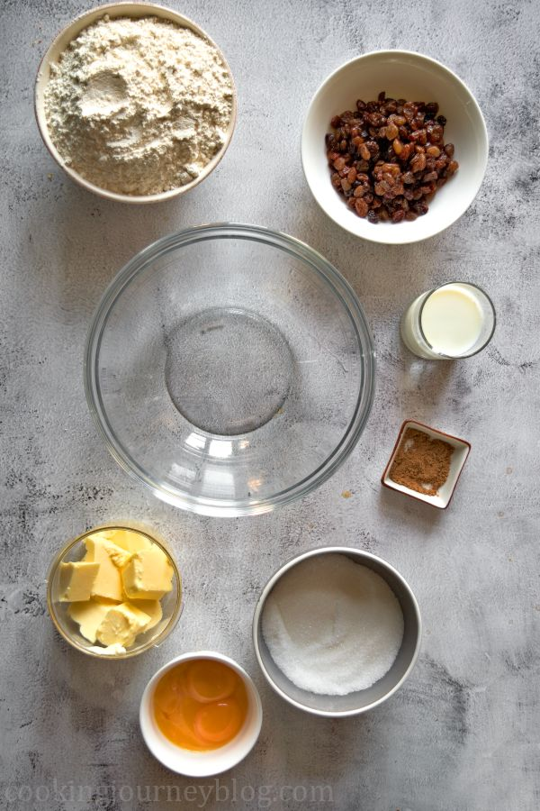 Ingredients for the soul cakes