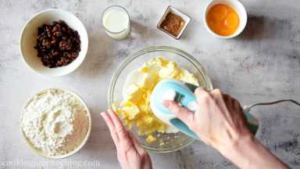 Using hand mixer or stand mixer, mix butter with sugar.