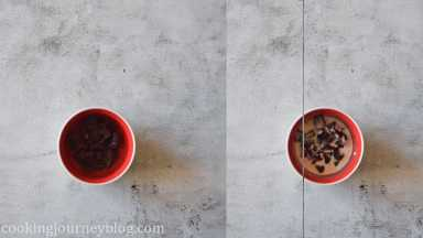 Add chopped dark chocolate in microwave-safe bowl. Cover with heavy cream.