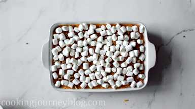 Top with mini marshmallows.