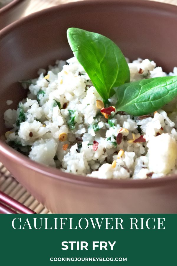Cauliflower Rice Stir Fry is an easy healthy side dish. This cauliflower recipe is keto, paleo, vegan, gluten-free.