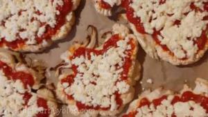 Sprinkle with shredded mozzarella, then Parmesan cheese on top of each cauliflower steak.