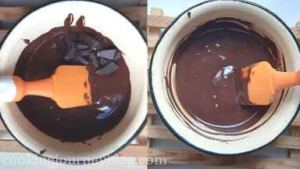 Remove from heat, add remaining chocolate and stir until melted and the temperature is 31 C.