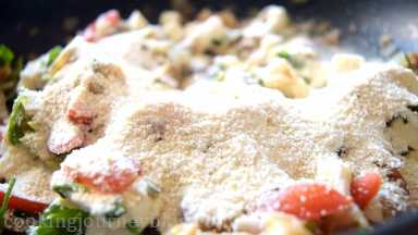 Add breadcrumbs and mix everything just until combined.