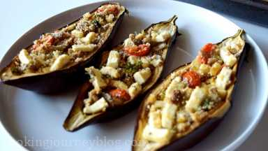 Bake for about 40 minutes until eggplants are tender and brown.Top with extra parsley, if you want.