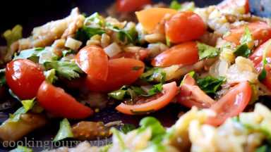 Stir in parsley and chopped tomatoes.